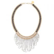 Gold Crystal Waterfall Necklace