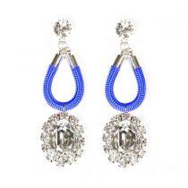 Planet Earrings Blue