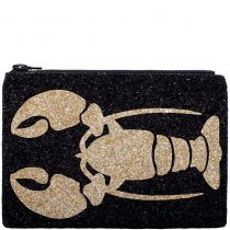 Lobster Glitter Clutch Bag