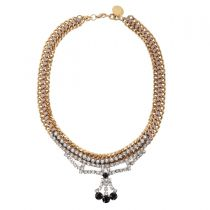 Gold Crystal Necklace 01