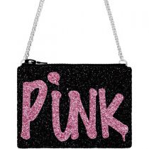 Black Pink Punk Glitter Cross-Body Bag