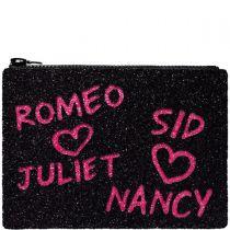 Sid and Nancy Glitter Clutch Bag