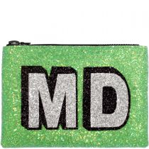 Slime Block Initials Glitter Clutch Bag