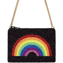 Rainbow Glitter Cross-Body Bag