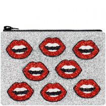 Lips Glitter Clutch Bag