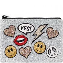 Stickers Glitter Clutch Bag