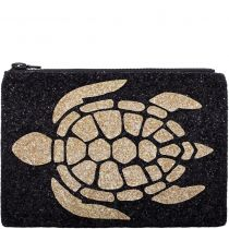 Turtle Glitter Clutch Bag
