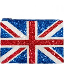 Union Jack Glitter Clutch Bag