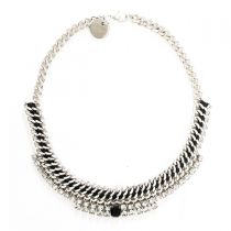 Black and Silver Necklace 08