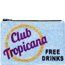 Club Tropicana Glitter Clutch Bag